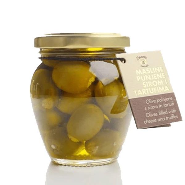Olive polnjene s sirom in tartufi