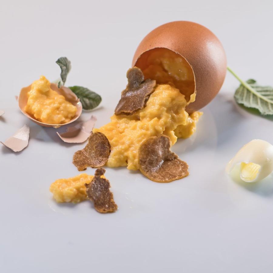 Jajčna omleta z belimi Liofiliziranimi tartufi